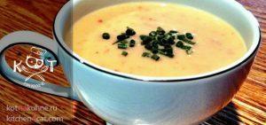Суп-пюре с картофелем и зеленым чесноком
