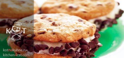 """Мороженое """"Мини-Сэндвич"""" с шоколадной крошкой (печенье)"""