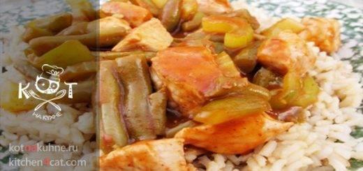 Свинина с овощами в томатном соусе