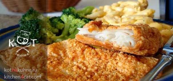 Рыба, запеченная в сыре Пармезан