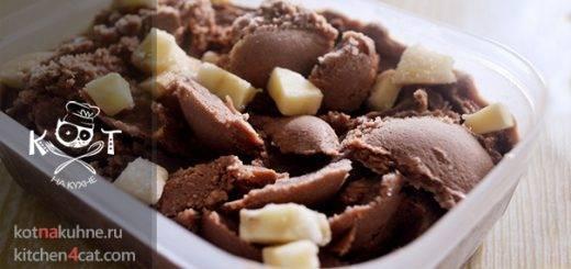 Шоколадное сливочное мороженое со сгущенным молоком без нагревания