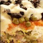 Салат слоеный «Прага» с черносливом