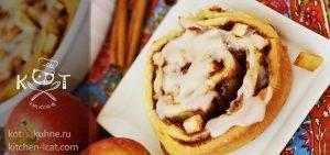 Сладкие булочки с яблоками и корицей