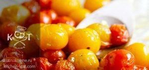 Запеченные помидоры черри с чесноком