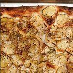 Картофельная пицца без сыра