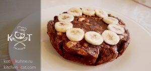 Шоколадная овсяная каша в духовке, а-ля пирог с бананами