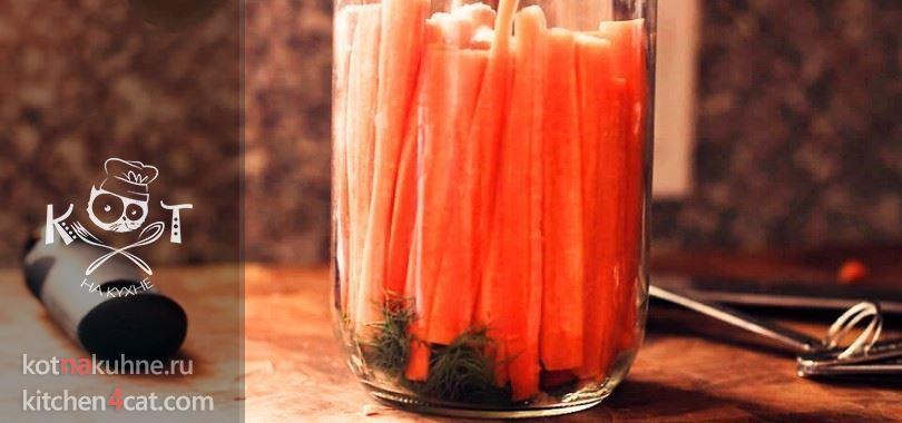 Маринованная морковь с чесноком