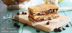 Сладкие бутерброды с шоколадно-банановой начинкой