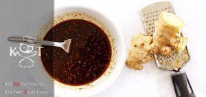 Чесночно-имбирный маринад для мяса с соевым соусом