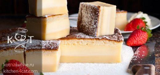 """Трехслойный бисквитный торт """"Магия Заварного"""""""