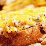 Жареные тосты с тунцом и беконом
