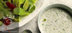 Белый соус Ранч с майонезом, сметаной и молоком