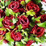 """Свекольный салат с сельдью """"Красный розовый куст"""""""