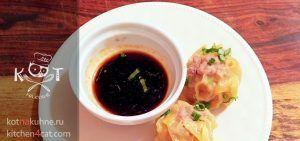 Чесночно-медовый соус с уксусом и соевым соусом