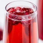 Гранатовый коктейль с шампанским