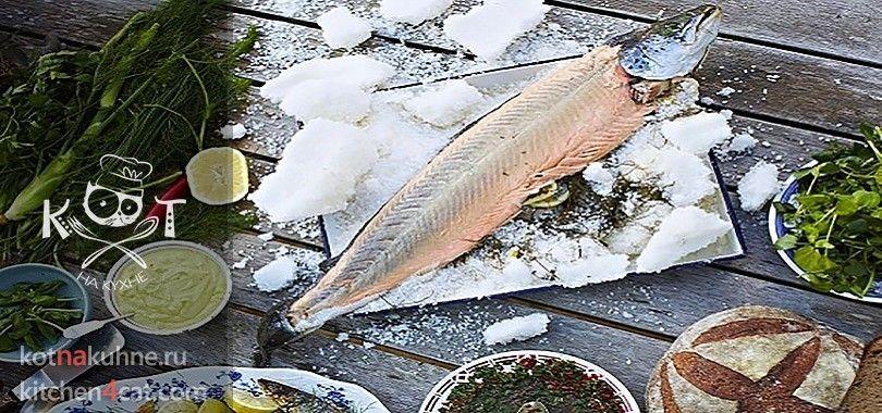 Горбуша, запеченная целиком в соли (Рецепт от Джейми Оливера)