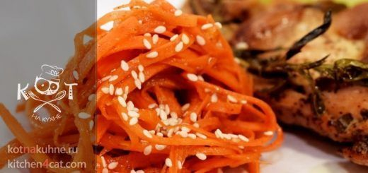 Морковь по-корейски с чесноком и маслом