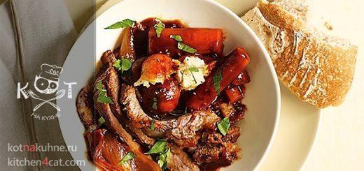 Тушеная говядина в кофе с картофелем и морковью
