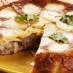 Заливной рыбный пирог с картошкой и луком (перевертыш)