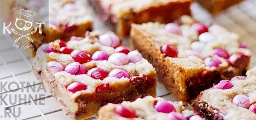 Блондис с M&M's - пирожные с белым шоколадом