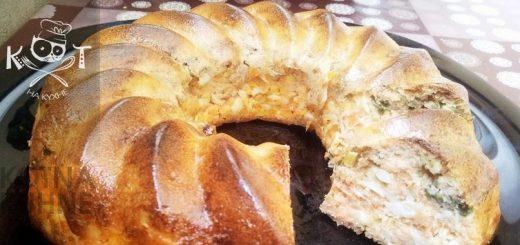 Заливной рыбный пирог с консервой и яйцом по Дюкану (без ДОПов)