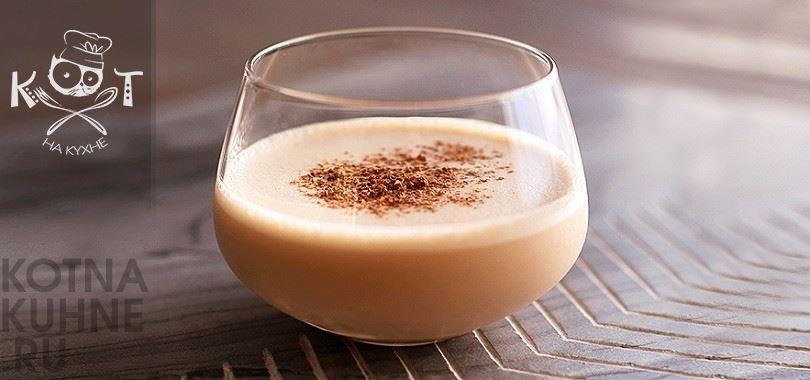 Молочный алкогольный коктейль с коньяком (бренди)