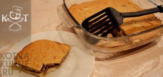 Рыбный пирог на кефире с картошкой, яйцами и начинкой из рыбного фарша (без лука)