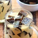 Десерты с желатином: Кофейное желе с молоком