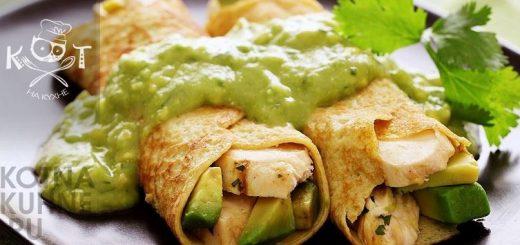 Пряно-острый соус Гуакамоле из авокадо, с чесноком, перцем и кинзой