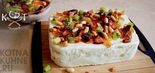 """Творожный десерт """"Старая Рига"""" с желатином и ананасами"""