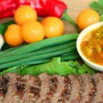 Соус из алычи с чесноком и зеленью к мясу без сахара