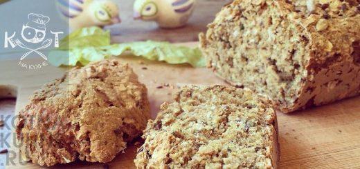 Веганский цельнозерновой хлеб с семечками без яиц и дрожжей