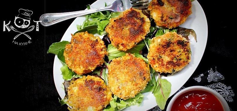 Овощные картофельные котлеты с брокколи без яиц