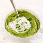 Пюре из замороженного зеленого горошка