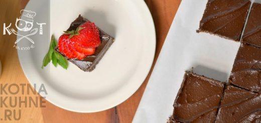 Шоколадные пирожные брауни из авокадо с глазурью (Vegan, RAW)