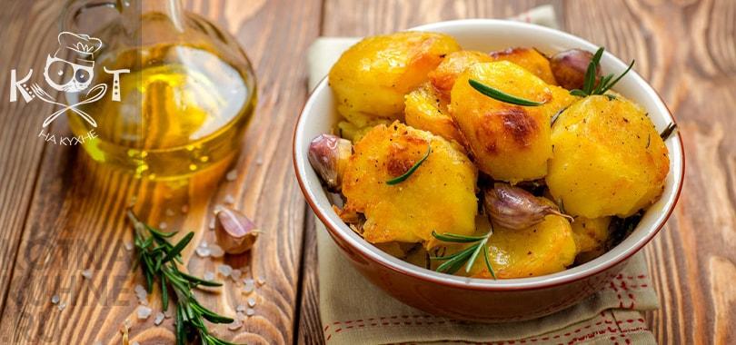 Идеальный запеченый картофель с розмарином, мандарином и чесноком на Новый год (рецепт от Джейми Оливера)