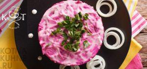 Веганский салат «Селедка под шубой» с нори (RAW, Vegan)