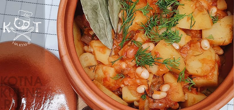 Картофельное овощное рагу с фасолью (Vegan)