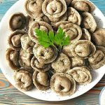 Вегмени: Пельмени с грибами без мяса (Vegan, постное)